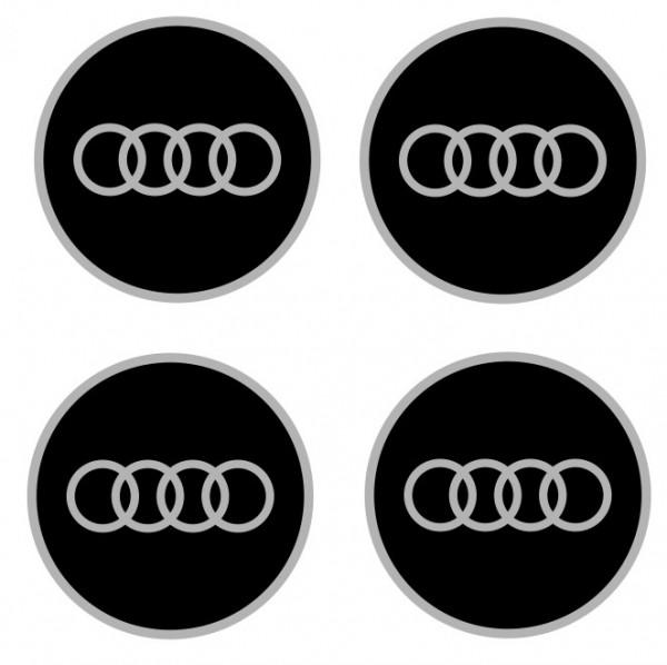 4 Autocolantes Para Centros de Jantes com Audi