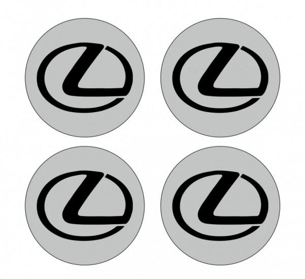 4 Autocolantes Para Centros de Jantes para Lexus