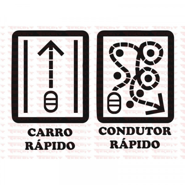Autocolante - Carro rápido, Condutor Rápido