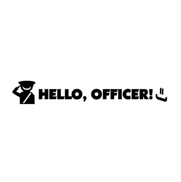 Autocolante com Hello Officer