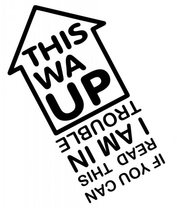 Imagens Autocolante com This wa up