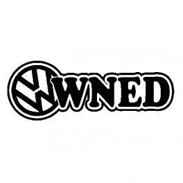 Autocolante com VW Owned