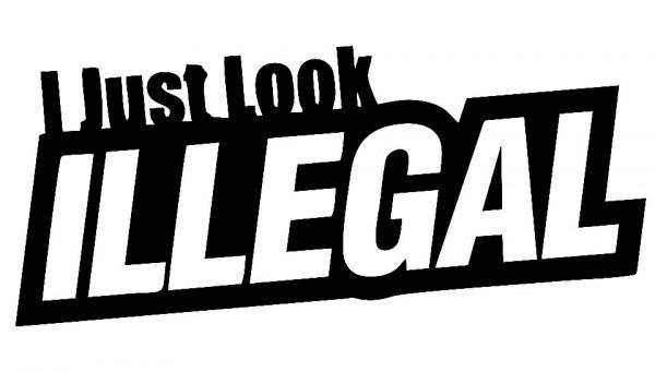 Imagens Autocolante - I just look illegal