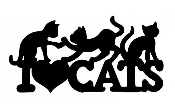 Autocolante - I love cats