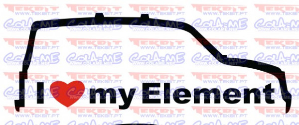 Autocolante - I love my Element
