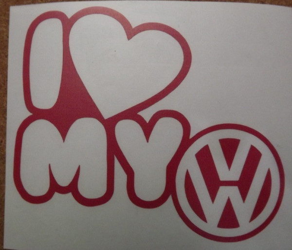 Autocolante - I Love My VW (Volkswagen)