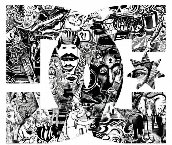 Imagens Autocolante Impresso - DC Abstracto - Preto e Branco