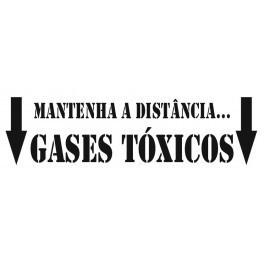 Autocolante - Mantenha a distância... Gases Tóxicos