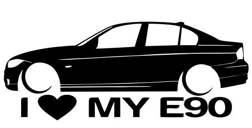 Autocolante para I love BMW E90