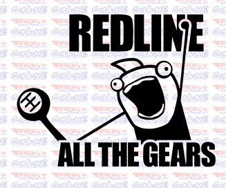Autocolante -Red Line All The Gears
