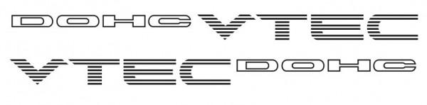 Imagens Autocolantes - DOHC VTEC (Honda)