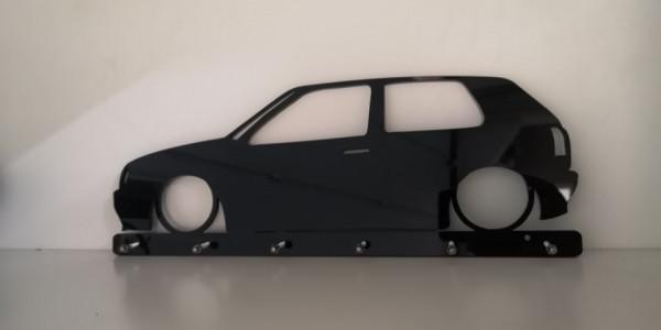 Chaveiro em Acrílico com Volkswagen Golf III