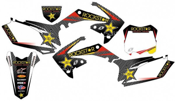 Kit Autocolantes Para HONDA CRF 450 09-12
