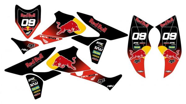 Kit Autocolantes Para HONDA TRX 450R 05-08