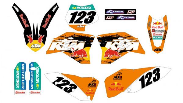 Imagens Kit Autocolantes Para  KTM SX / MX 07-10