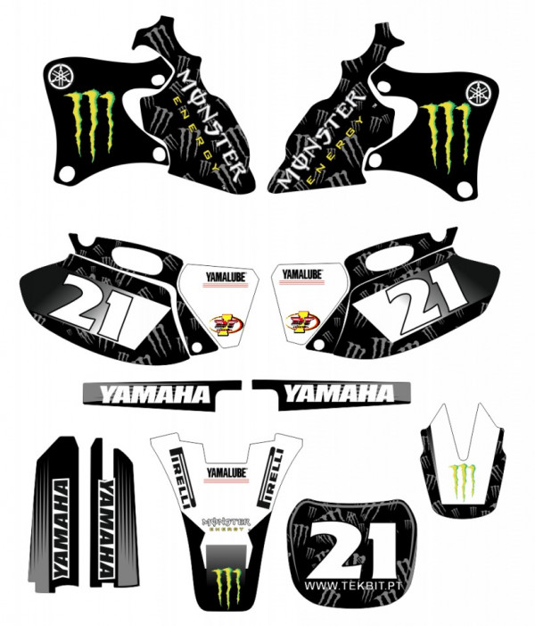 Imagens Kit Autocolantes Para Yamaha YZF 250 400 426 - 1998 a 2002