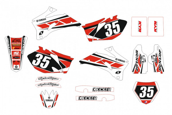 Imagens Kit Autocolantes Para Yamaha YZF 250 / 450 06-09