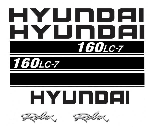 Kit de Autocolantes para HYUNDAI 160LC-7