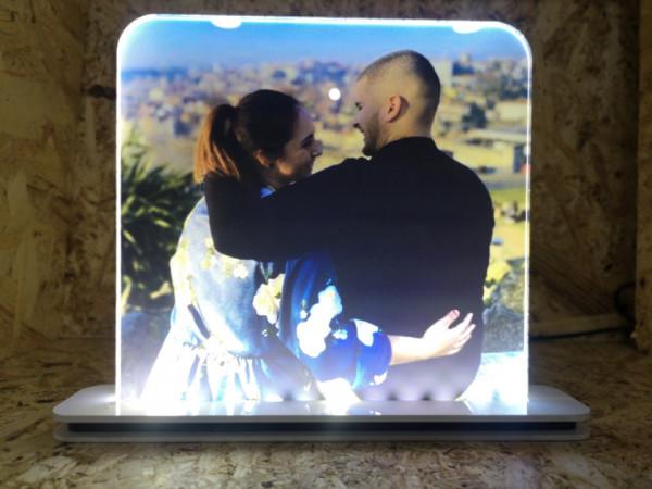 Moldura iluminada / Candeeiro de presença. Foto de Cliente