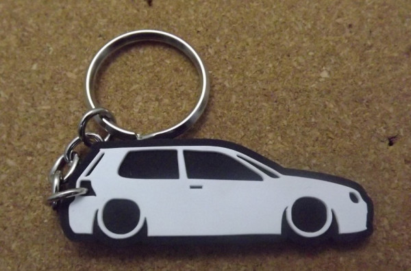 Porta Chaves com silhueta de Volkswagen Golf IV / MKIV  - 3 Portas