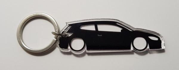 Porta Chaves de Acrílico com silhueta de Volkswagen Scirocco