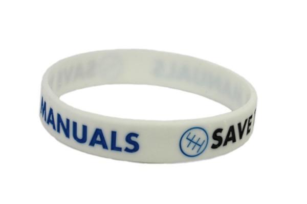 Pulseira para Save The Manuals Branco