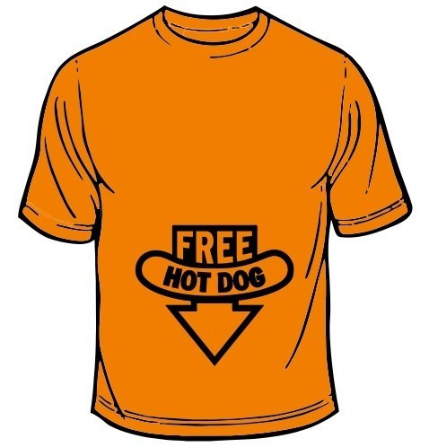 Imagens T-shirt - Free Hot Dogs