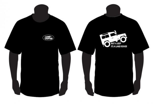 Imagens T-shirt para Not a Jeep is a Land Rover