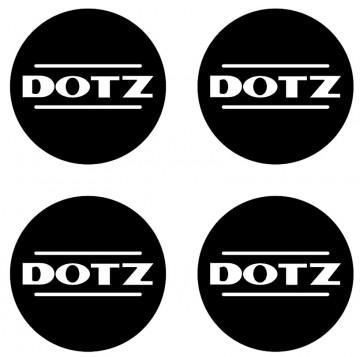 4 Autocolantes Para Centros de Jantes com DOTZ
