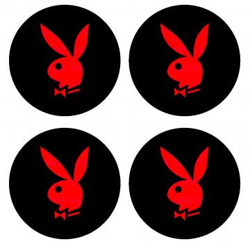 4 Autocolantes Para Centros de Jantes com Playboy