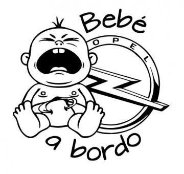 Autocolante - Bebé a bordo para Opel