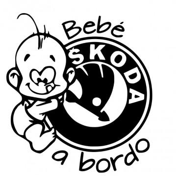 Autocolante - Bebé a bordo - Skoda