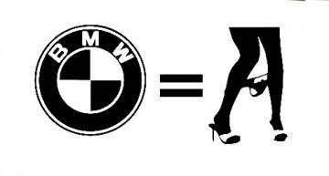 Autocolante - BMW = Panty dropper