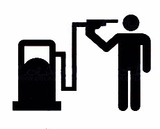 Autocolante - Bomba de Gasolina