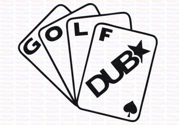 Autocolante - Cartas Golf DUB