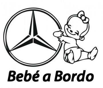 Autocolante com Bebé a bordo Mercedes