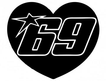 Autocolante com coração 69