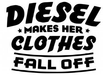 Autocolante com diesel makes her clothes fall off