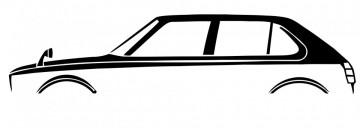 Autocolante com Honda Civic CVCC 5 portas