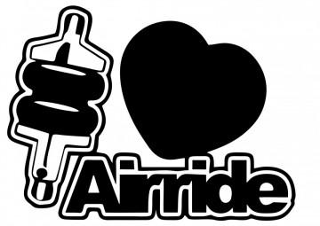 Autocolante com I love airride