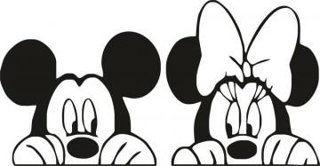 Autocolante com Minnie e Mickey