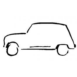 Autocolante com silhueta Renault 4L