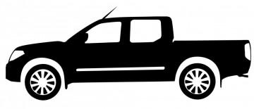 Autocolante com Toyota Hilux