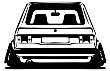 Autocolante com Volkswagen Golf I Traseira