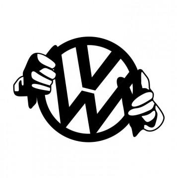 Autocolante com VW