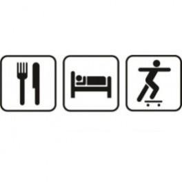 Autocolante - Comer Dormir Skate
