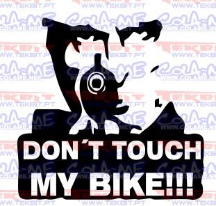 Autocolante - Don´t touch my bike