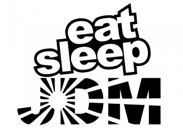 Autocolante - eat sleep jdm