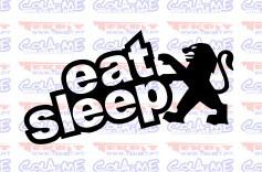 Autocolante - Eat Sleep Peugeot