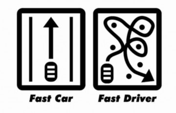Autocolante - Fast car / Fast Driver